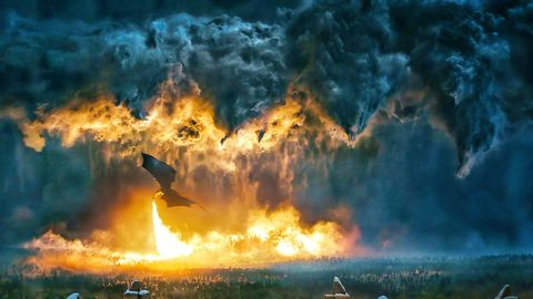 Nature, Atmosphere, Geological phenomenon, Sky, Explosion, Atmospheric phenomenon, Flame, Heat, Wildfire, Fire,