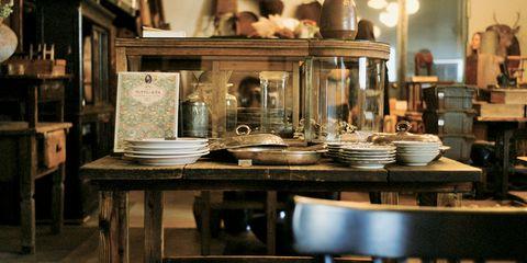 Room, Table, Interior design, Architecture, Wood, Furniture, Antique,