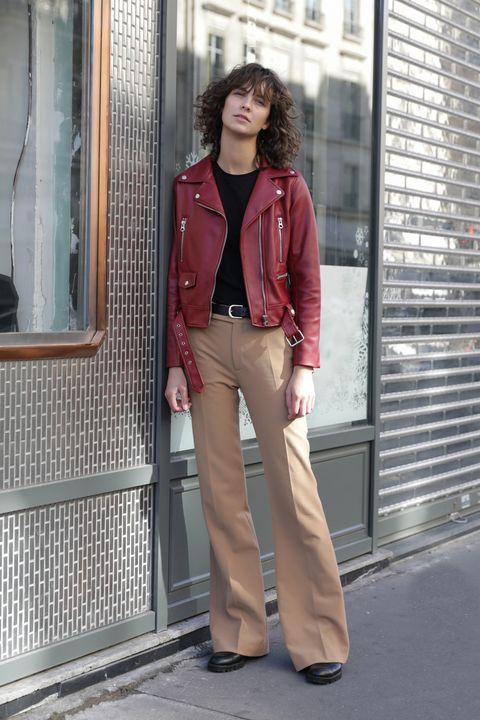 Clothing, Snapshot, Street fashion, Standing, Jeans, Fashion, Jacket, Outerwear, Trousers, Blazer,