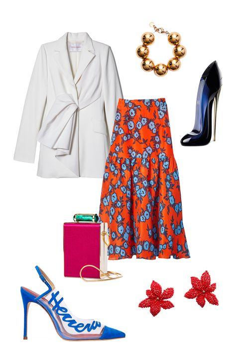Clothing, Footwear, Dress, Electric blue, Shoe, Day dress, Style, Street fashion,