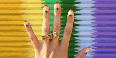 Finger, Nail, Manicure, Hand, Nail care, Cosmetics, Nail polish, Artificial nails, Ring, Thumb,