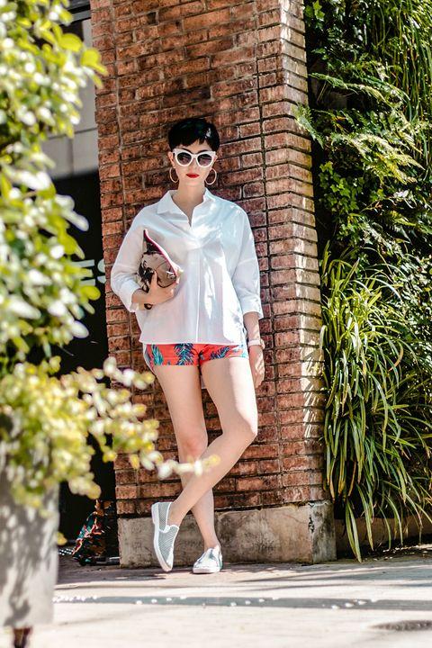 White, Eyewear, Clothing, Photograph, Street fashion, Fashion, Beauty, Pink, Sunglasses, Footwear,