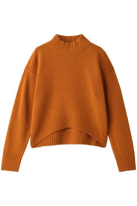 Clothing, Sleeve, Orange, Outerwear, Sweater, Yellow, Neck, Shoulder, Jersey, Wool,