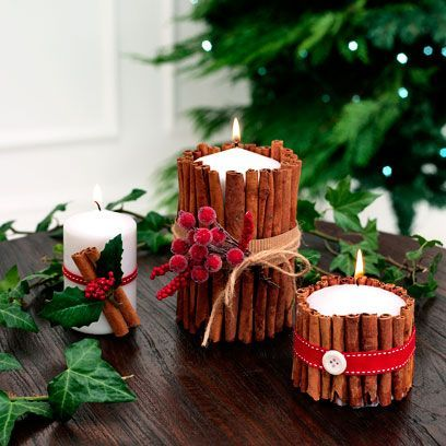 Cinnamon stick, Candle, Lighting, Cinnamon, Tree, Christmas decoration, Fir, Wood, Branch, Interior design,