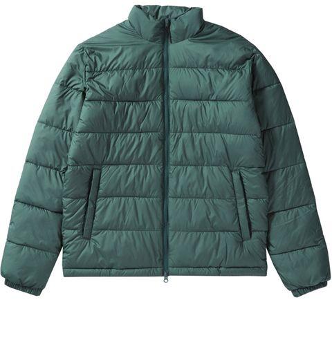 Jacket, Clothing, Outerwear, Green, Sleeve, Hood, Puffer, Collar, Top,