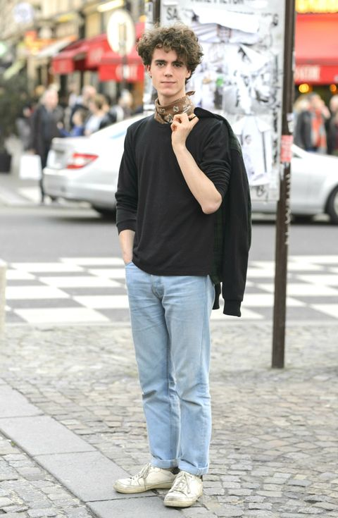 Street fashion, Photograph, Clothing, Jeans, Snapshot, Fashion, Footwear, Hairstyle, Outerwear, Street,