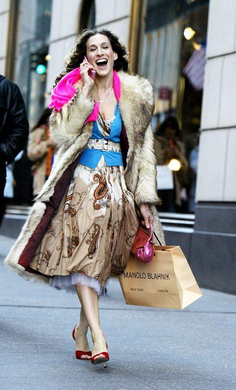 Fashion model, Clothing, Street fashion, Fashion, Fur, Pink, Snapshot, Dress, Outerwear, Fur clothing,