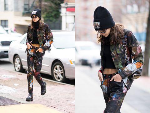 Street fashion, Clothing, Beanie, Fashion, Footwear, Tights, Cap, Knee, Leggings, Joint,