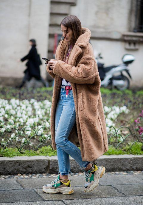 Street fashion, Photograph, Clothing, Fashion, Snapshot, Footwear, Beauty, Outerwear, Coat, Shoe,