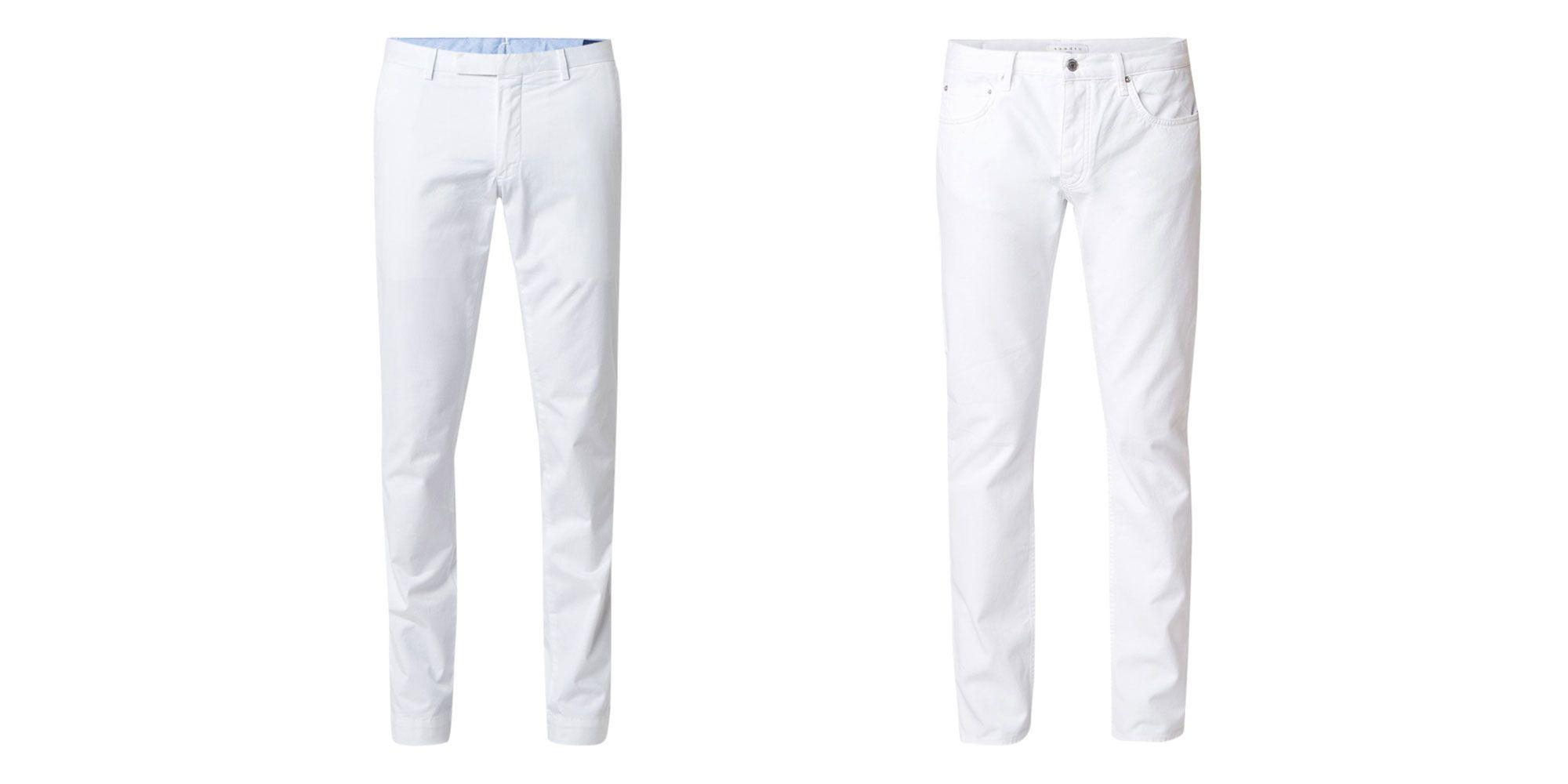 De witte broek: alleen stijlvolle mannen kunnen hem aan