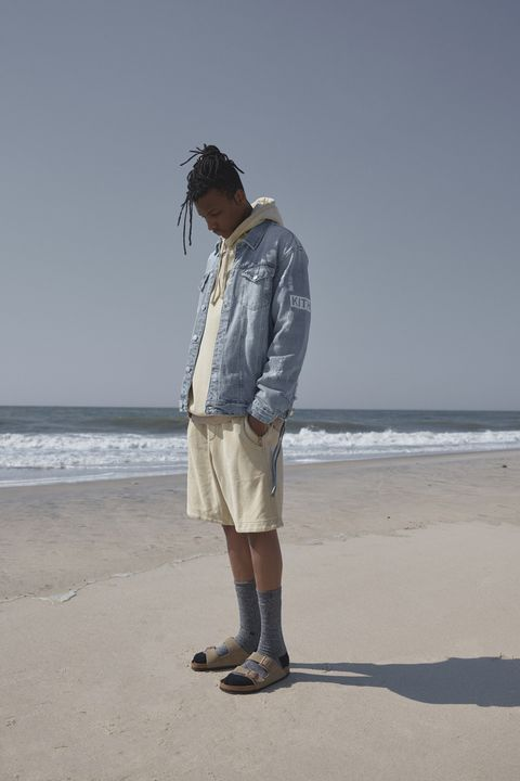 Standing, Beach, Sea, Vacation, Human, Shorts, Summer, Denim, Sand, Fun,