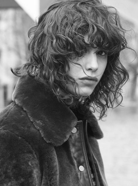 Hairstyle, Jacket, Style, Street fashion, Monochrome, Fur clothing, Fur, Surfer hair, Portrait, Portrait photography,