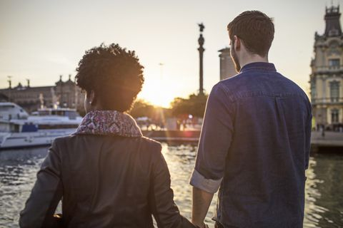 Photograph, Standing, Waterway, Photography, Friendship, Tourism, Vacation, Outerwear, Backlighting, Sunlight,