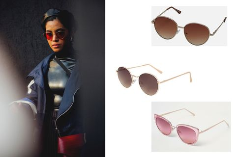 Eyewear, Sunglasses, Glasses, aviator sunglass, Vision care, Cool, Personal protective equipment, Fashion, Pink, Goggles,