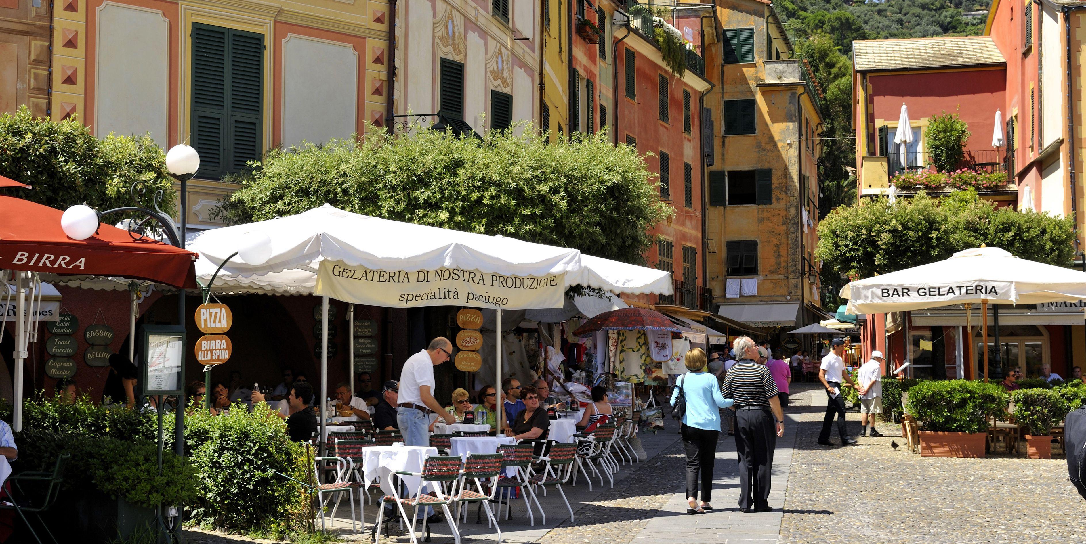 Italy, Liguria, Riviera ligure, Portofino, one of the most exclusive resorts in Italy