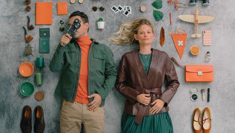 Orange, Vintage clothing, Jacket,