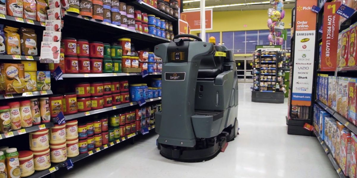 Walmart Buys 300 Aisle Cleaning Robots From Brain Corp