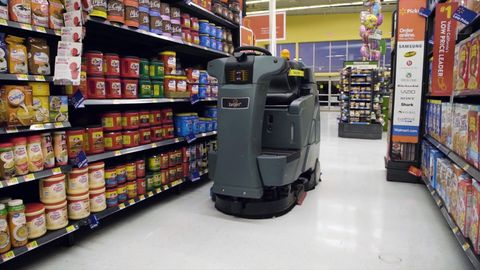Walmart Buys 300 Aisle-Cleaning Robots from Brain Corp