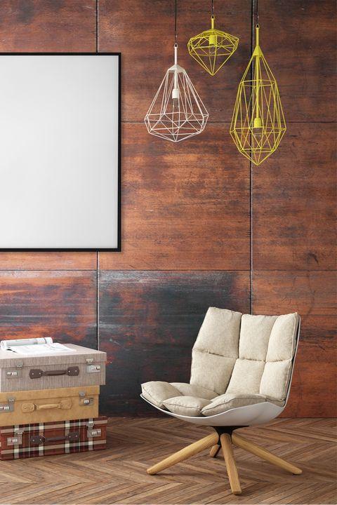 Furniture, Wall, Room, Floor, Lighting, Interior design, Lampshade, Light fixture, Lamp, Living room,