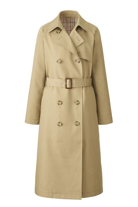 Clothing, Trench coat, Coat, Outerwear, Overcoat, Sleeve, Beige, Collar, Duster, Dress,