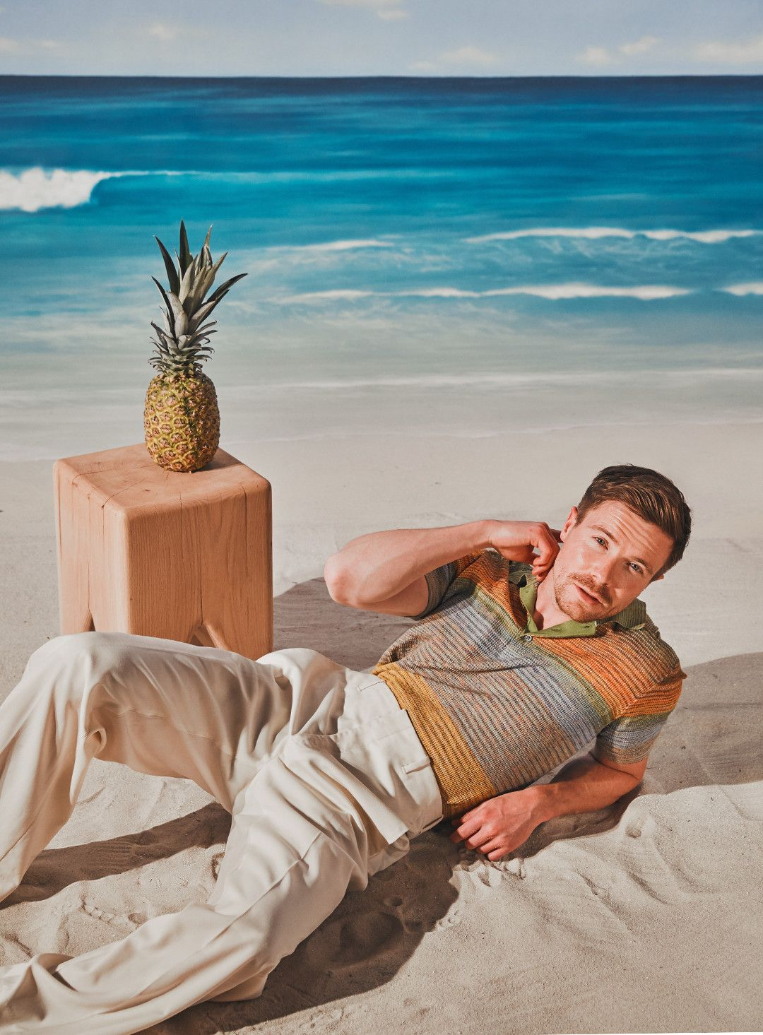 Joe Dempsie originally auditioned for three other Game of Thrones characters—including Jon Snow—before being cast as Gendry. Polo shirt by Missoni, trousers by Dior.
