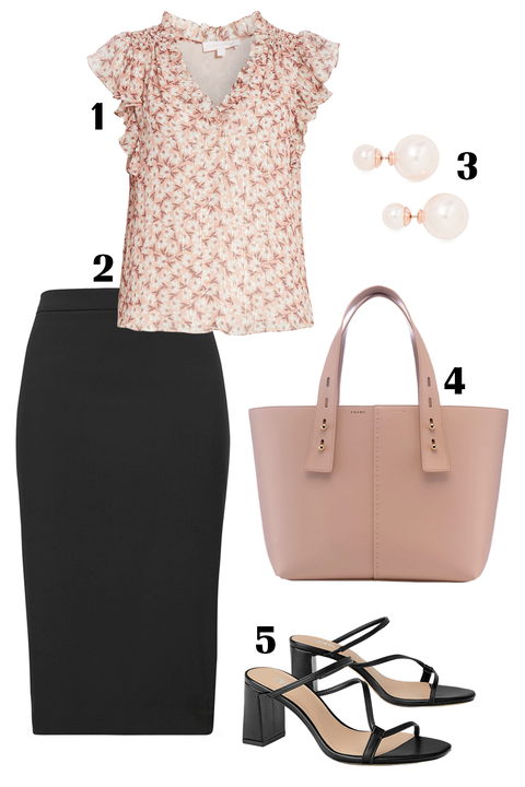 White, Clothing, Black, Pink, Footwear, Brown, Dress, Fashion, Beige, Pencil skirt,