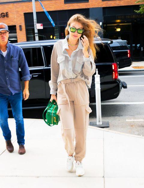 Clothing, White, Street fashion, Fashion, Eyewear, Snapshot, Footwear, Sunglasses, Jeans, Waist,