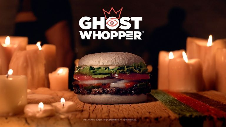 Burger King's Halloween Ghost Whopper Comes On A Cheddar Cheese-Flavored Bun