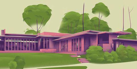 アメリカのほぼ全州にあるフランク・ロイド・ライト設計の住宅を総覧