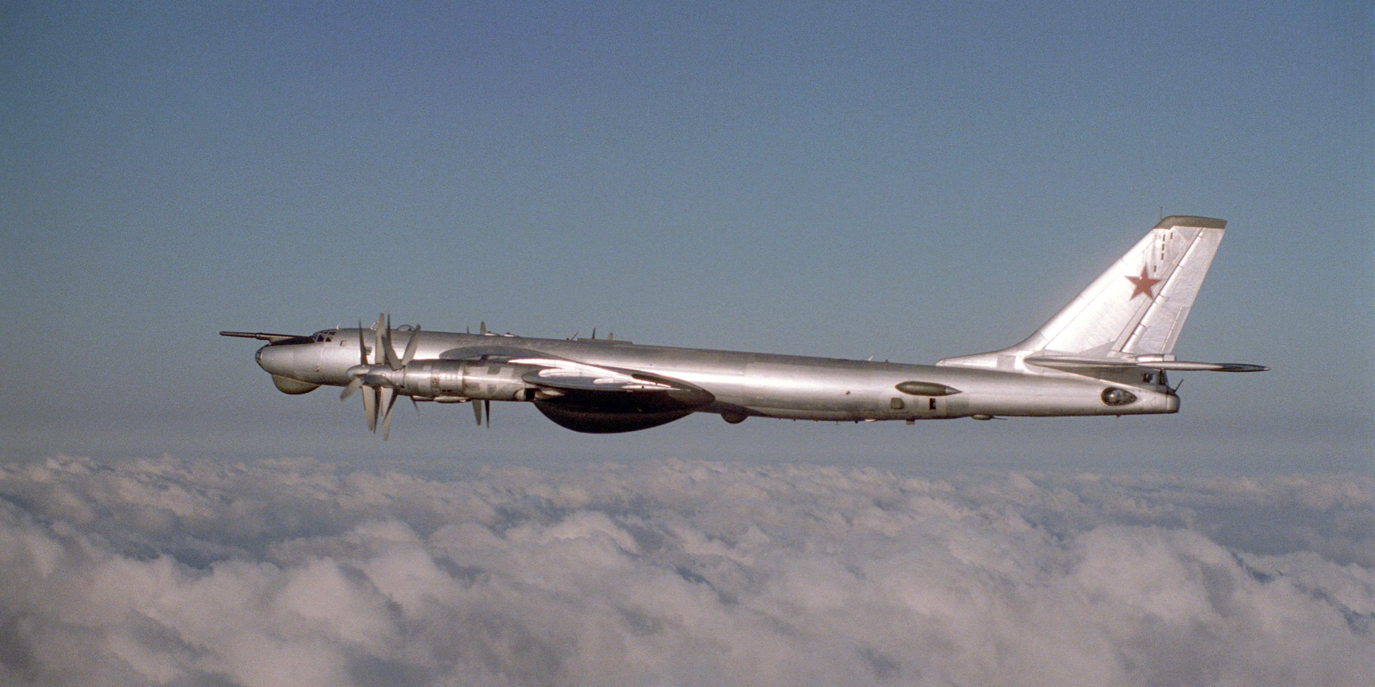 O Tupolev Tu-95 em 1983.