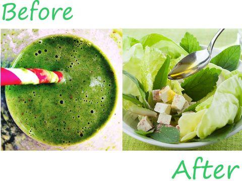プロテイン入りスムージー&野菜と豆腐のサラダ|ワークアウトの前と後、何を食べたら効果的? 運動前後の食事プラン 10