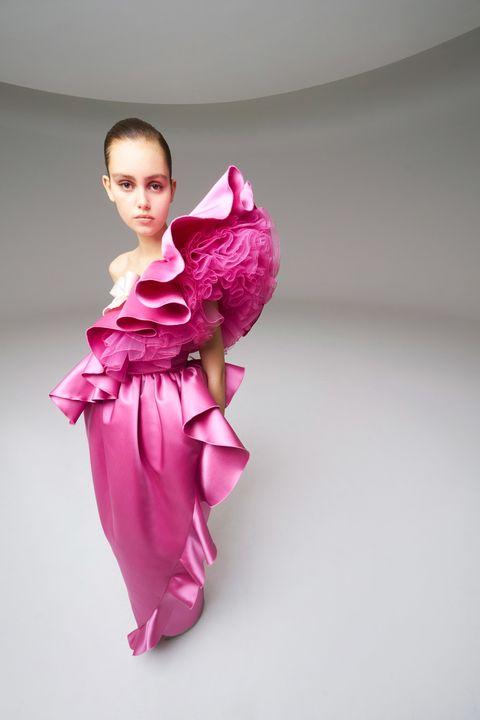 Pink, Clothing, Costume, Joint, Magenta, Textile, Dress, Child, Kimono, Pajamas,