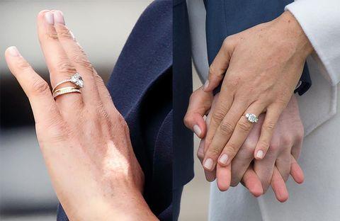 メーガン妃の婚約指輪、リフォーム前後を比較