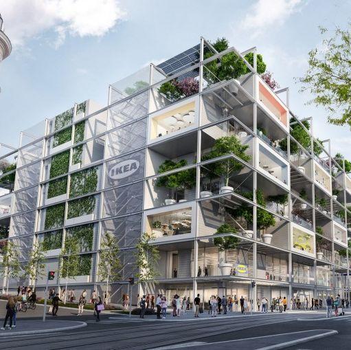 最近,在奧地利的維也納正在準備興建新的IKEA商場,維也納最新的IKEA設計為開放式的商場建築,建築外觀看似一座巨型書架!結合旅店和餐廳,商場頂樓更設置為一座天空花園。