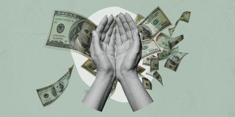 Cash, Money, Currency, Banknote, Dollar, Hand, Money handling, Paper, Illustration, Saving,