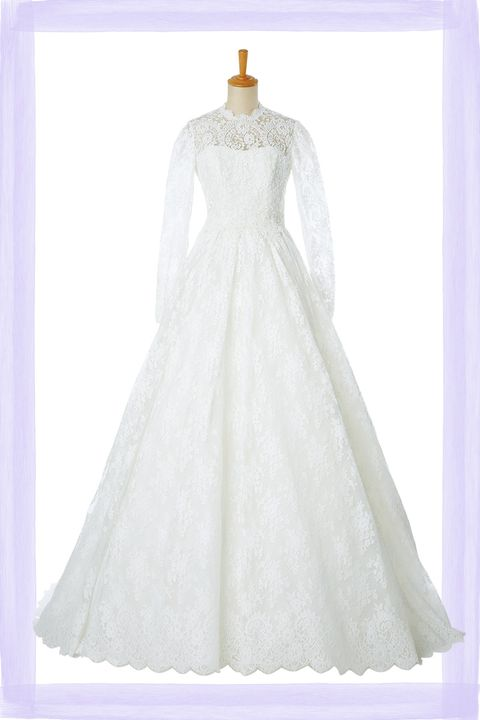 wedding dress lace long sleeve hatsuko endo