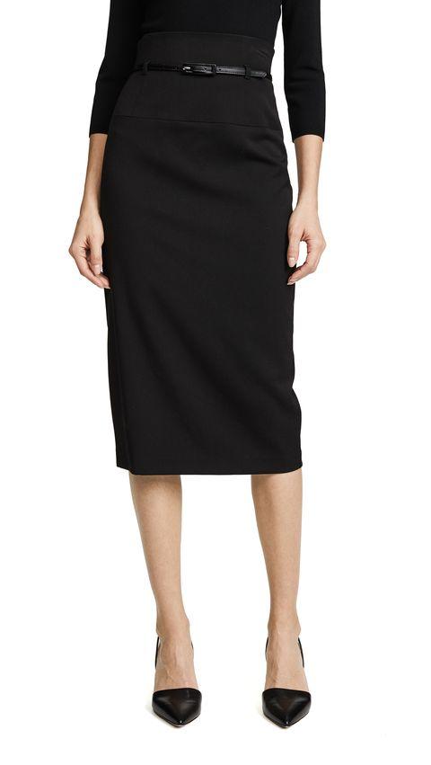 black halo 高腰鉛筆窄裙