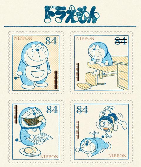 日本郵便局為慶祝哆啦a夢50週年,推出了兩款「哆啦a夢50週年紀念郵票」。以當初漫畫連載的復古畫風印製,重現哆啦a夢與大雄初次登場的樣子,可愛模樣超值得收藏!