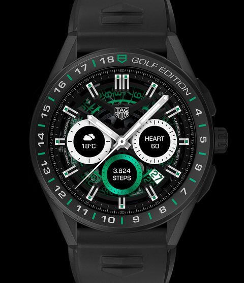 the tag heuer connected golf edition watch