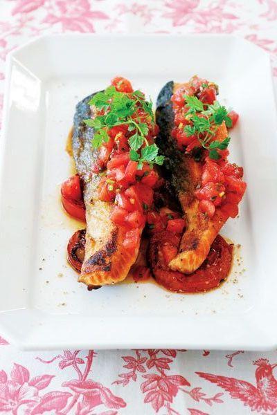 【8月7日】トマトどっさりの魚のソテー