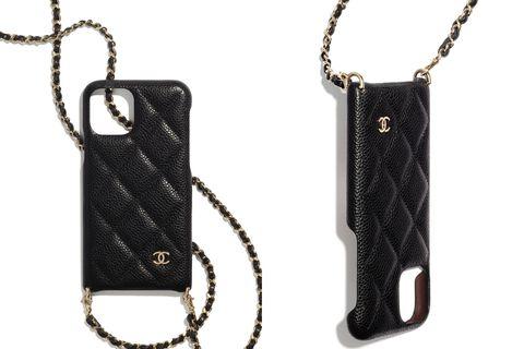 chanel 香奈兒 iphone 11 pro 小牛皮鏈帶手機殼