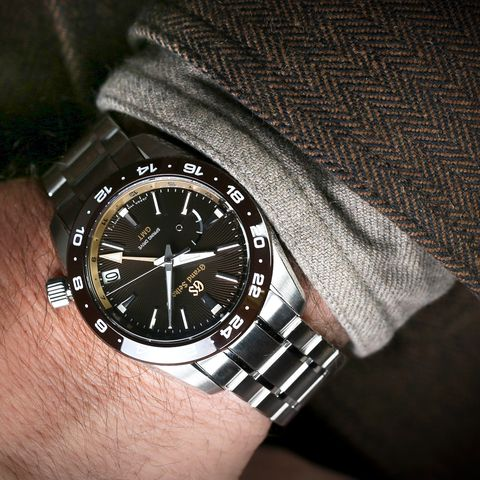 the eagle gmt on the wrist