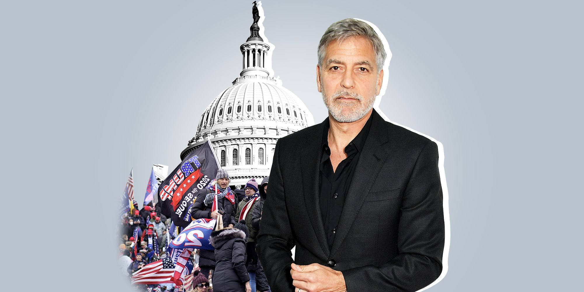 George Clooney Says Trump Will Be in the 'Dustbin of History' Following the Capitol Attacks