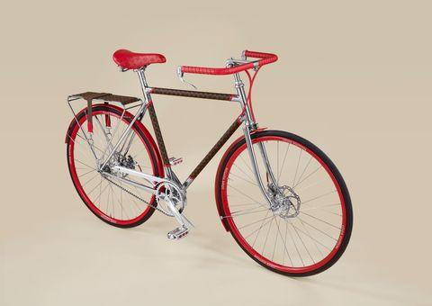 lv bike封閉式車架紅色monogram自行車