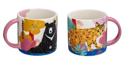 星巴克保育動物「黑熊、石虎」變主角!台灣限定系列大臉馬克杯、腳掌玻璃杯、環保餐具