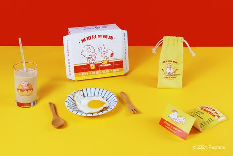 pinkoi x snoopy史努比聯名超萌「台味早餐盒」!大冰奶玻璃杯、查理布朗木製餐具陪你吃早餐