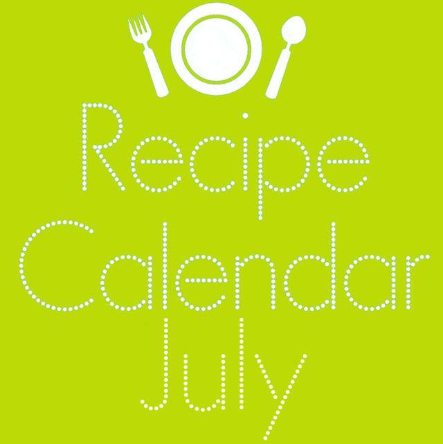 7月のレシピカレンダー