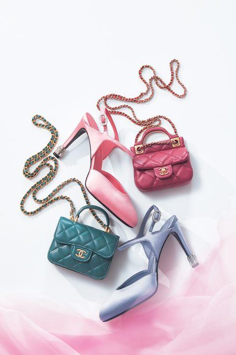 シャネルのバッグと靴