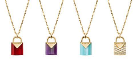MICHAEL KORS, Mercer鎖頭型吊墜, 珠寶, 配飾, 飾品搭配, Mercer Link系列, Kors Color系列, Custom Kors系列, DEMI-FINE輕奢珠寶系列