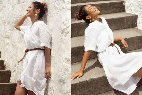 hm 2020 夏日系列 白色洋裝